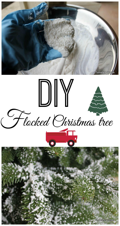 DIY a flocked Christmas tree!! Flocked christmas trees