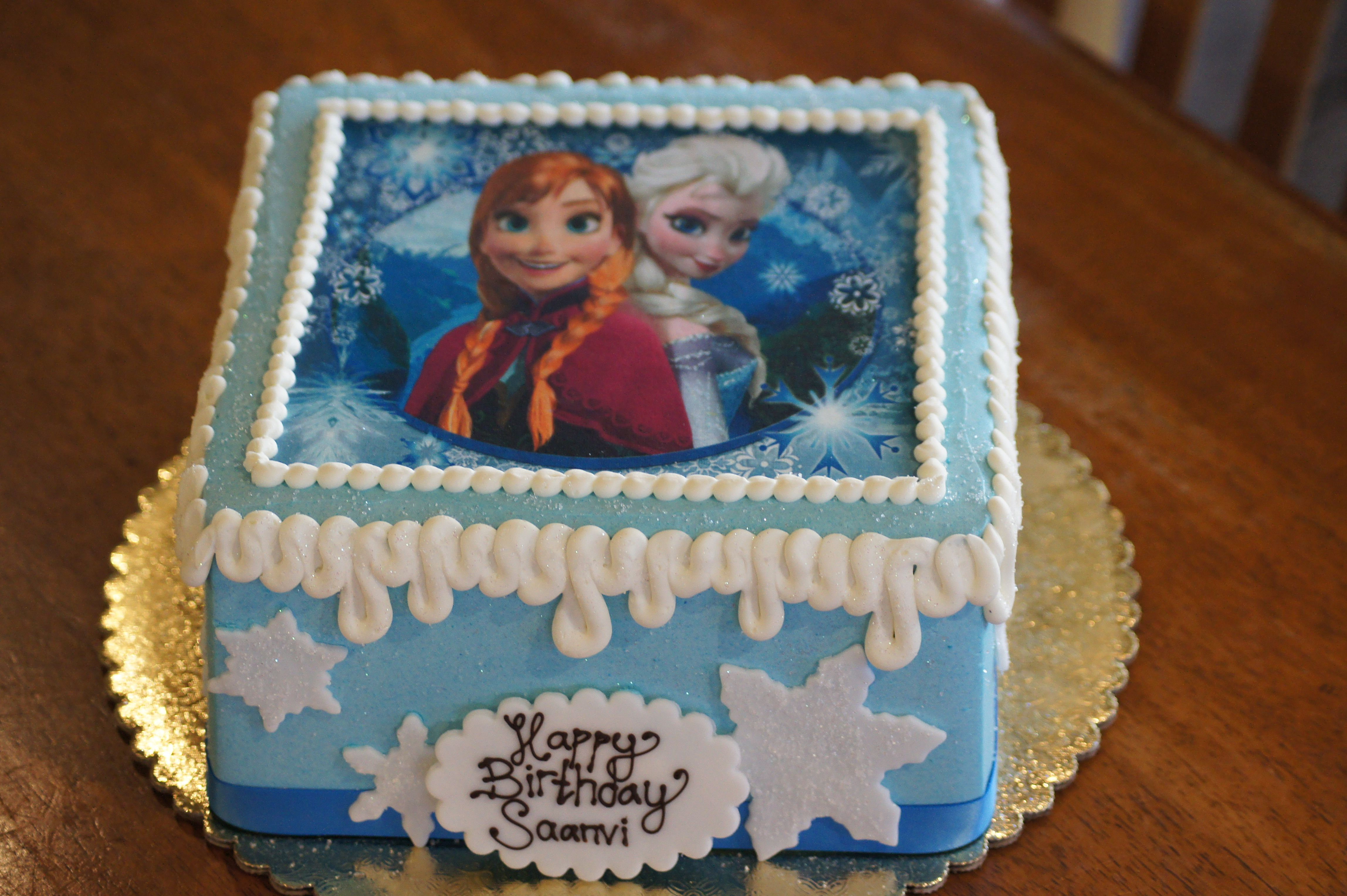 Square Frozen Themed Birthday Cake Frozen Themed Birthday Cake Square Birthday Cake Frozen Theme Cake