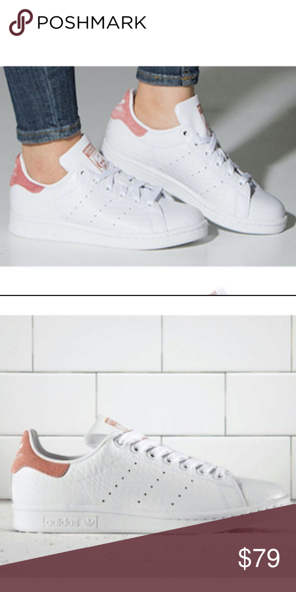 sports shoes 6d7e2 f879a Women s Adidas Stan Smith (Size 8) -Brand new in box -100% authentic  -Excellent condition -Size 8 women -White Pink Color way -Ships doubled  boxed -Ships ...