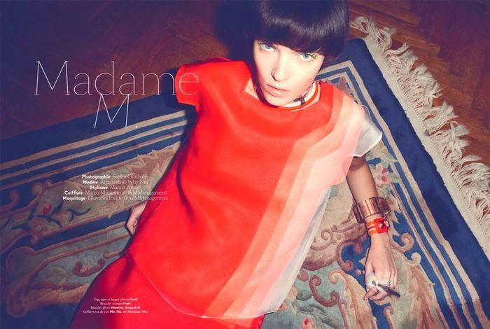 'Madame M.' Anastasia Kolganova by Stefan Giftthaler for Edelweiss Magazine