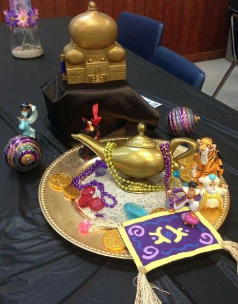 Disney Aladdin Centerpiece I Utilized Our Aladdin Figurine