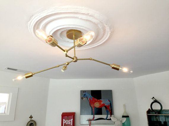 The linden chandelier three armed asymmetrical chandelier modern brass light asymmetric chandelier