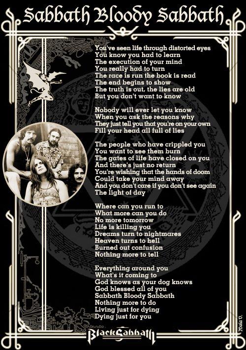 Black Sabbath - Gypsy Lyrics | Musixmatch