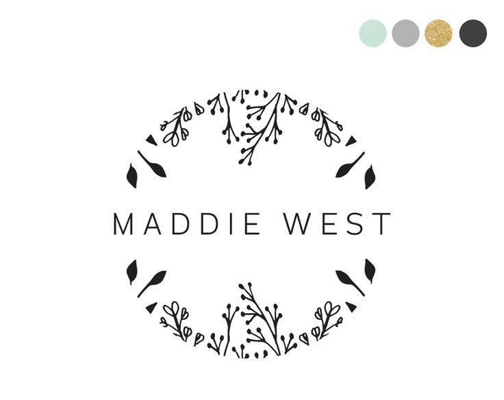 Floral Shield logo design €14 by crooked little pixel                         ...