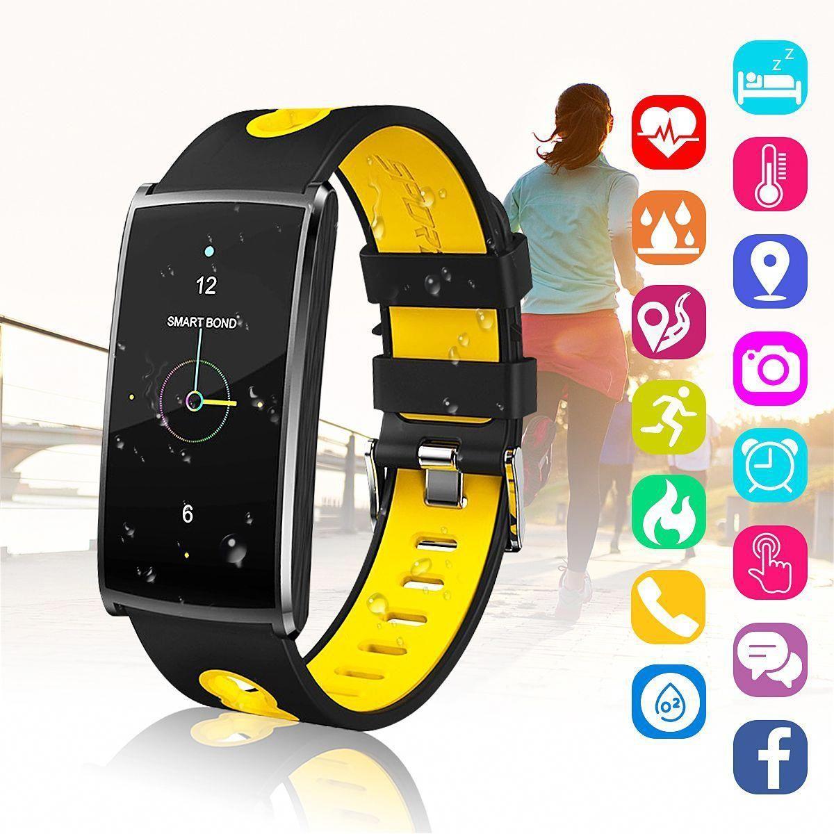 h Smart Watch, IP67 Waterproof Smart Wristband Bracelet for iPhone and Android Phones,OLED Display,...