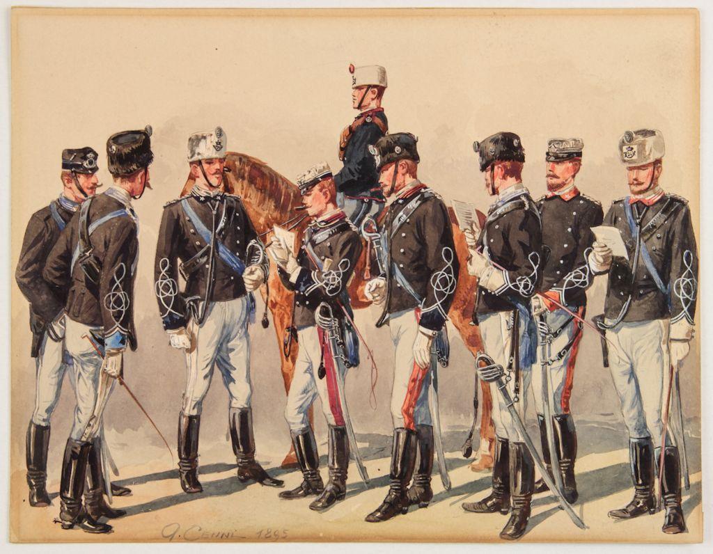 spesso Quinto Cenni (Imola, 1845 - Carate Brianza, 1917) : Uniformi  PC32
