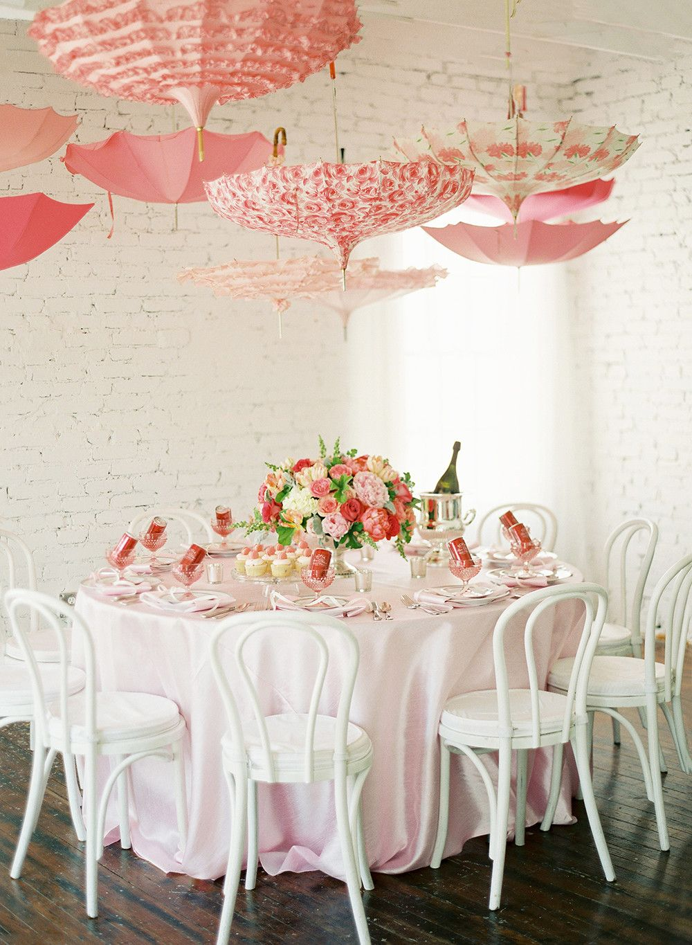 Garden decor for baby shower  Pink Bridal Shower Ideas and Decorations We Love  cc  Pinterest