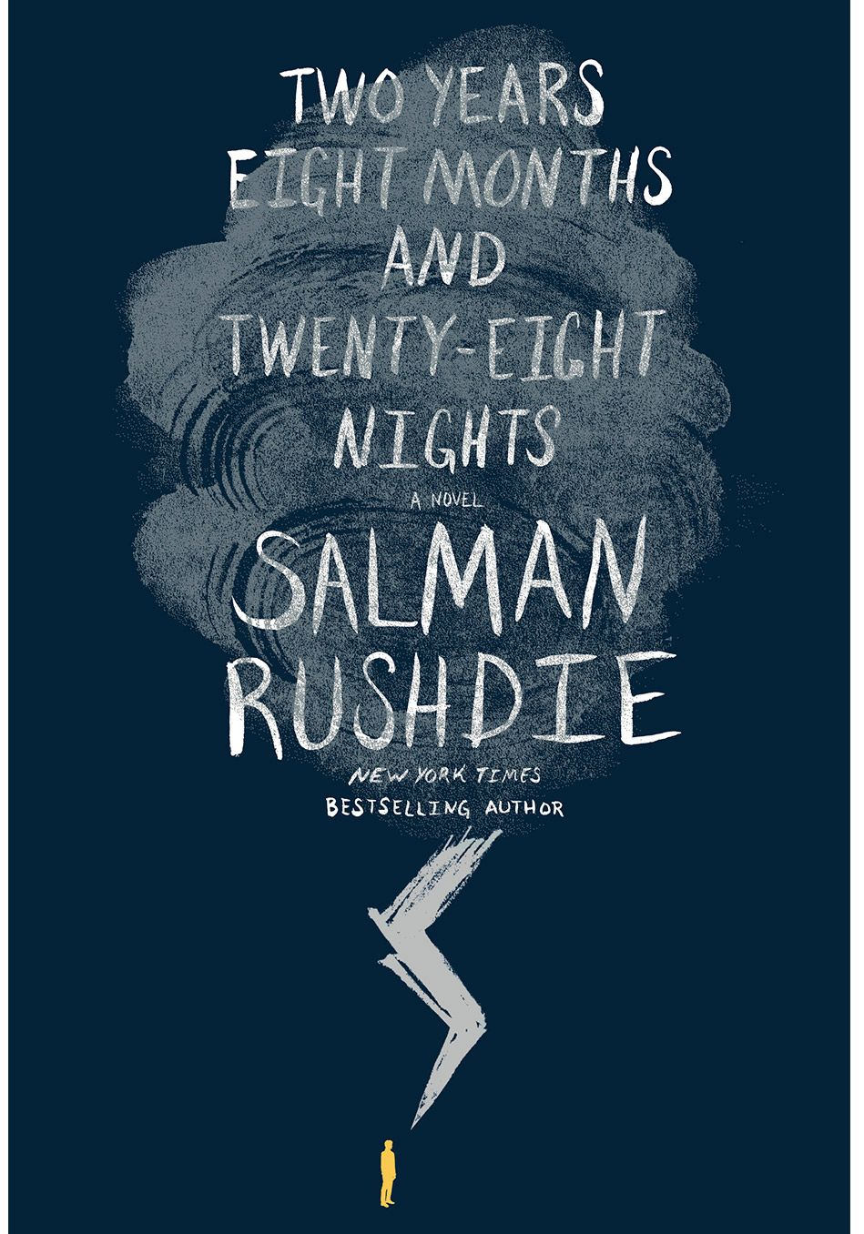 Salman Rushdie's exuberant new work, Two Years Eight Months and Twenty-Eight Nights, a retelling of what we know as The Arabian Nights, opens with a romance between a 12th-century Spanish doctor and Dunia, a female jinn (a.k.a. genie)—a union that spawns hordes of children who scatter across continents and into the future.