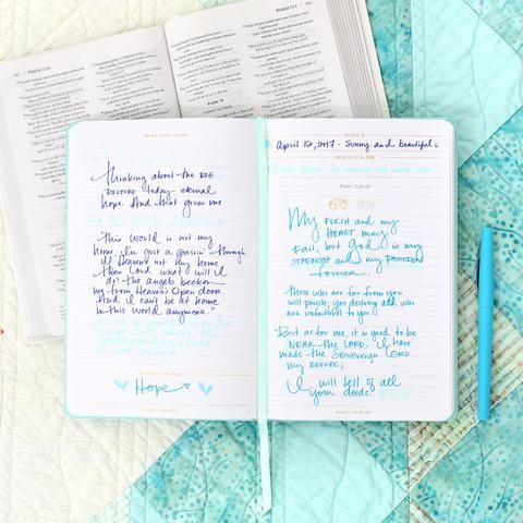 write the word journal cultivate hope