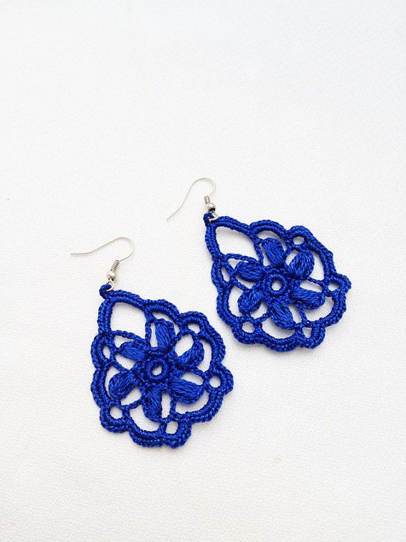 PDF Tutorial Crochet Pattern...Dangle Earrings -15 | Patrón de ...