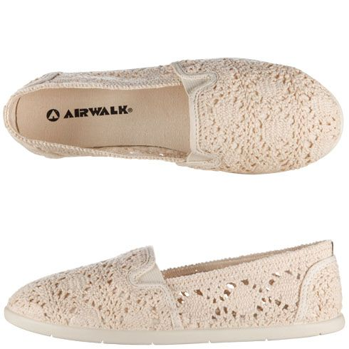 NEW Womens Tennis Shoes Size 6 Ivory Lace Flats Ladies Slip On Crochet Sneakers