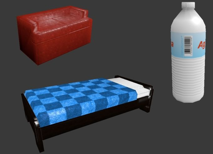 model low poly 3D props by fnclimnx