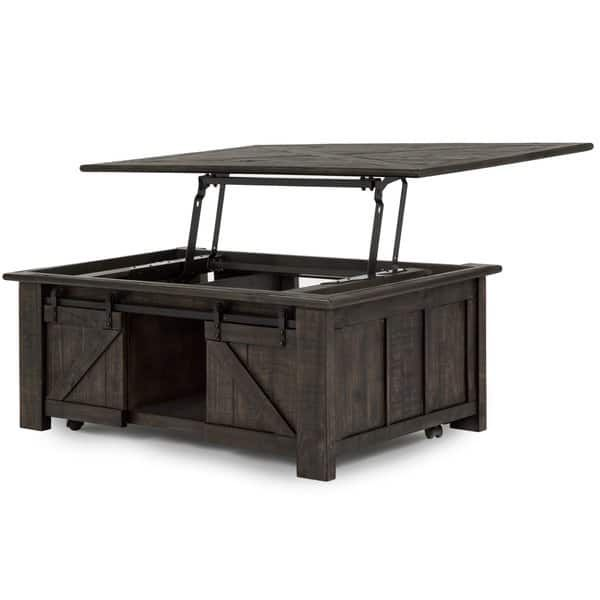 Transitional Black Lift Top Coffee Table With Storage Garrett