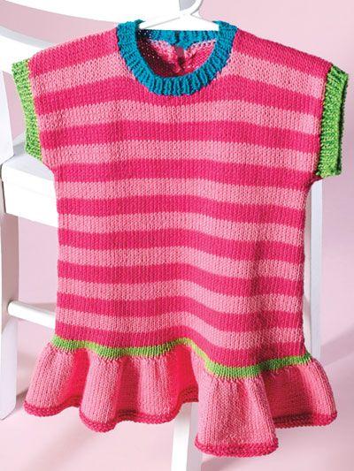 Knit Cotton Candy Stripes Dress Knit Pattern Ak01034 Todo