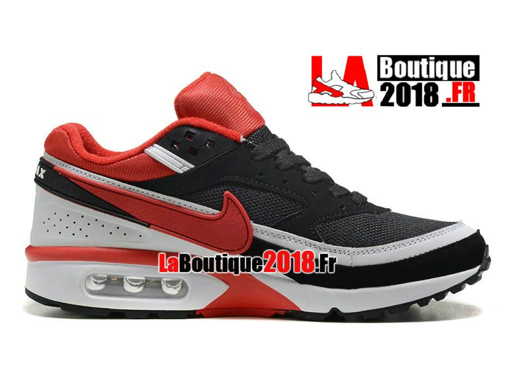 new styles 96aac 19c05 ... discount code for nike air max bw chaussures nike boutique pas cher  pour homme noir rouge