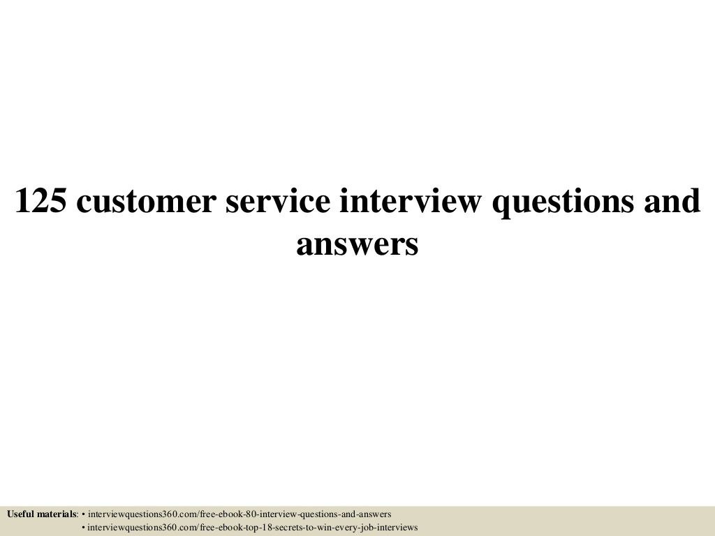 125 customer service interview questions and answers pdf