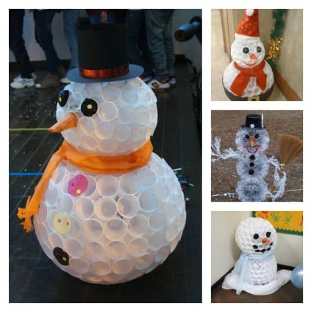 Wonderful DIY Fun Snowman From Plastic Cups Plastic cup snowman