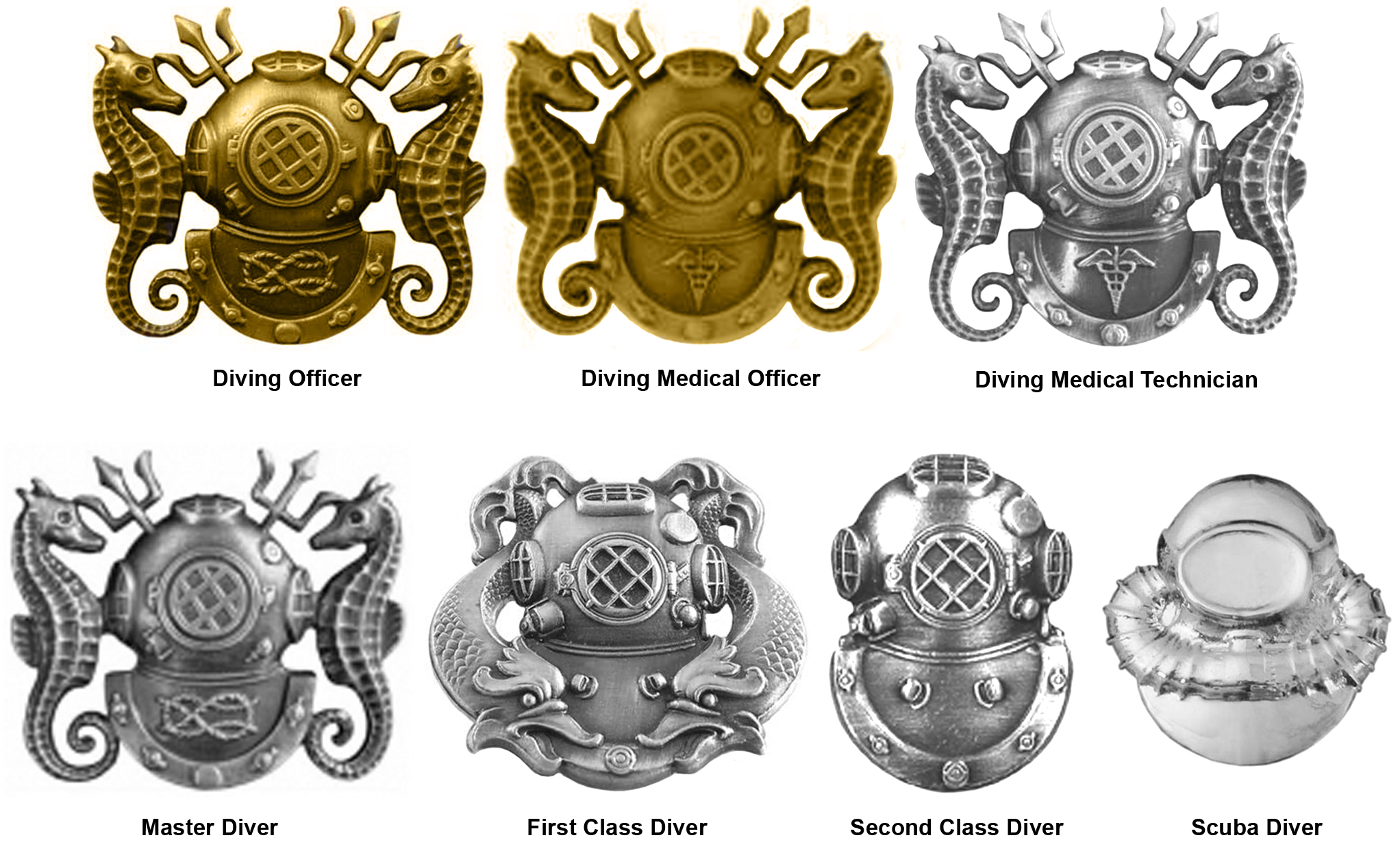 Navy Diver pins | Deep Sea | Diving, United states navy, Diver tattoo
