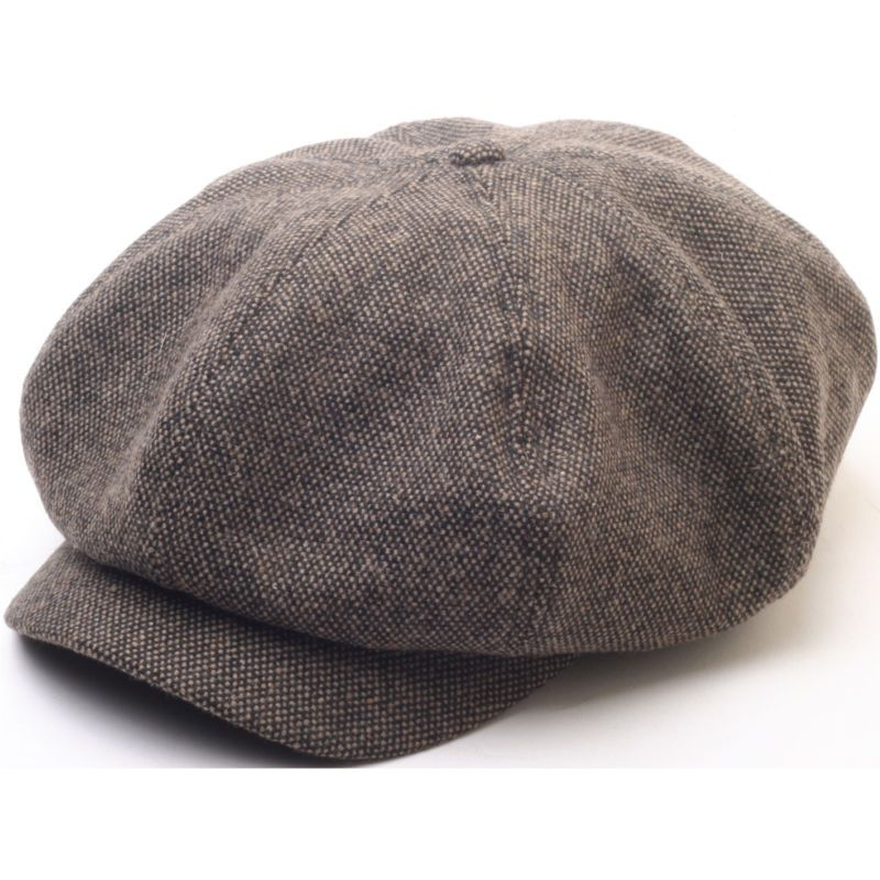 ba9bd1e09f8 N124 8 Panel Homespun Harris Donegal Tweed Pattern Fabric Newsboy Cap  Gatsby Hat