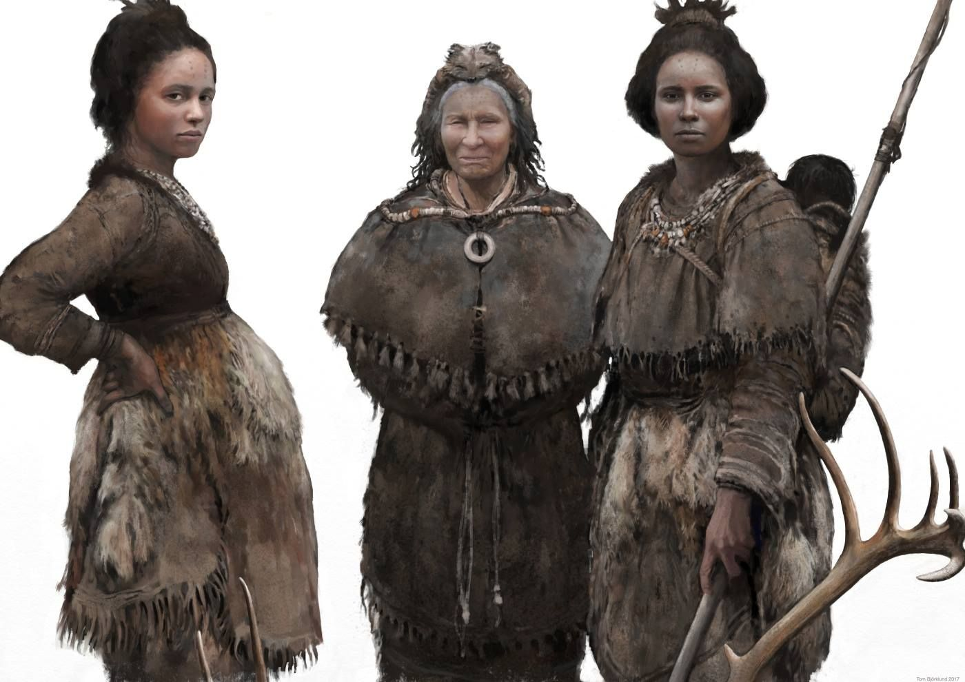 Three Hunter Gatherers From Ice Age Europe By Tom