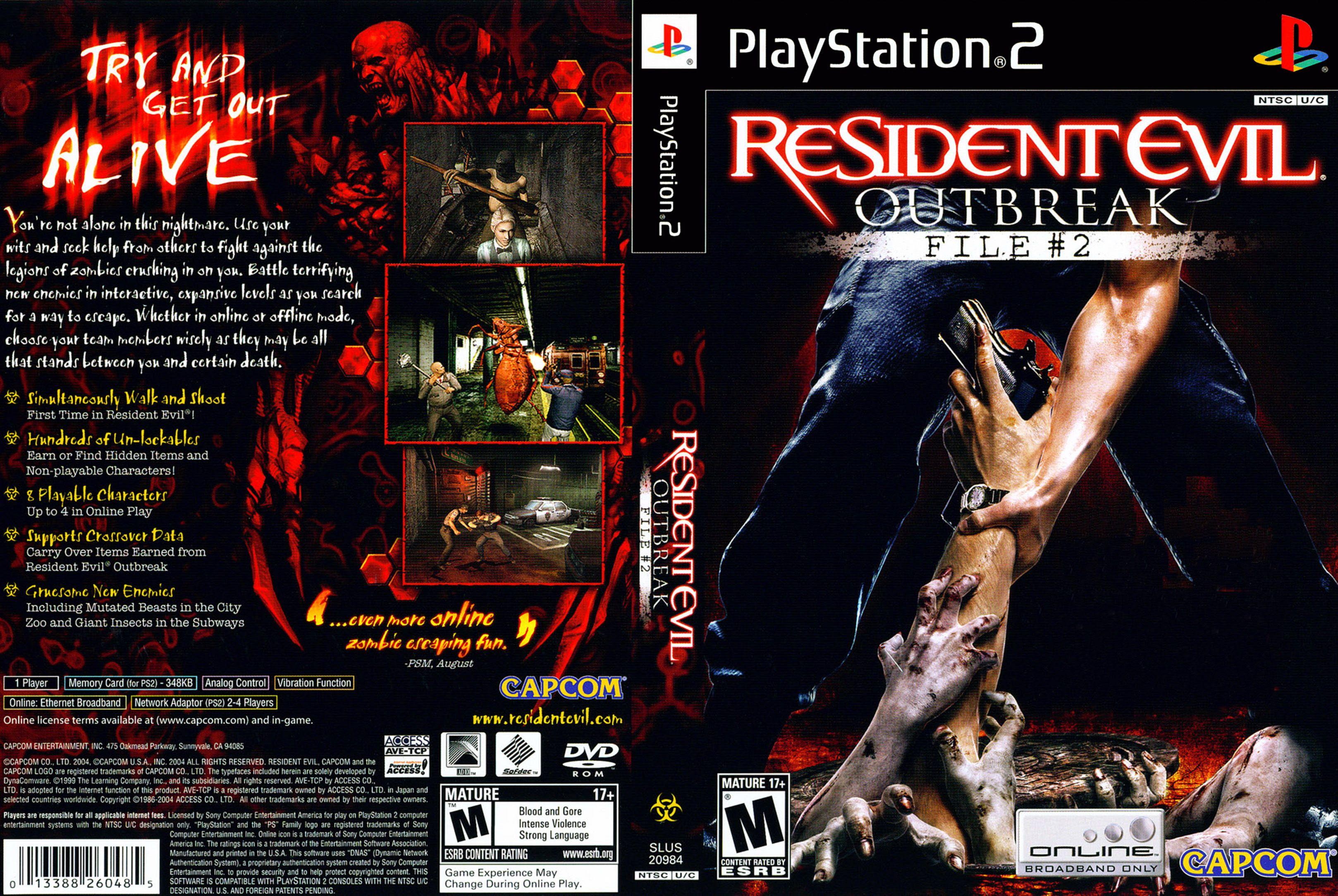 Resident Evil Outbreak File 2 Resident Evil Series Developer