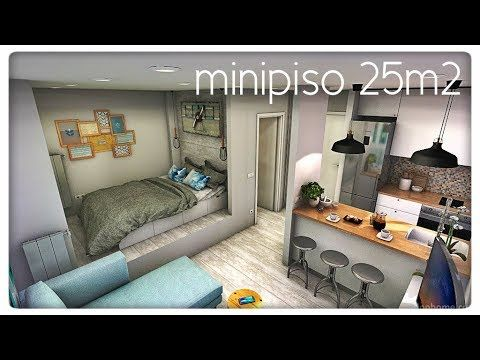 Minipiso 5x5 en 2019 minicasas casas peque as planos for Casa moderna 4x4