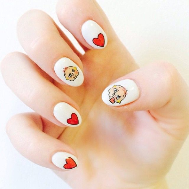 nancy_mc's photo on Instagram / using @diy_nails X @nancy_mc Kewtie Decals