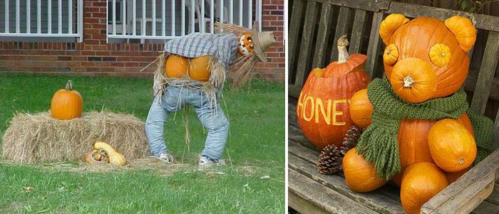 90 cool outdoor halloween decorating ideas the mooning scarecrow is hilarious one of the - Unusual Halloween Decorations