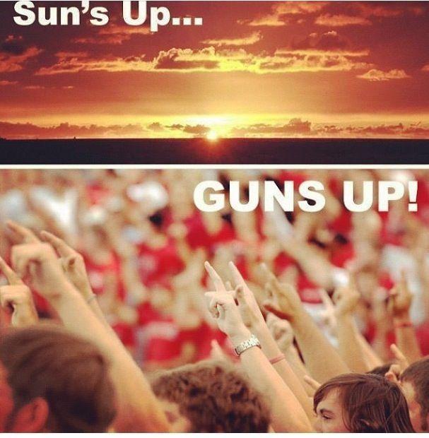 7cbcb0581ce9 Suns Up Guns Up #TTAA #SupportTradition | Fight, Matadors, for Tech ...