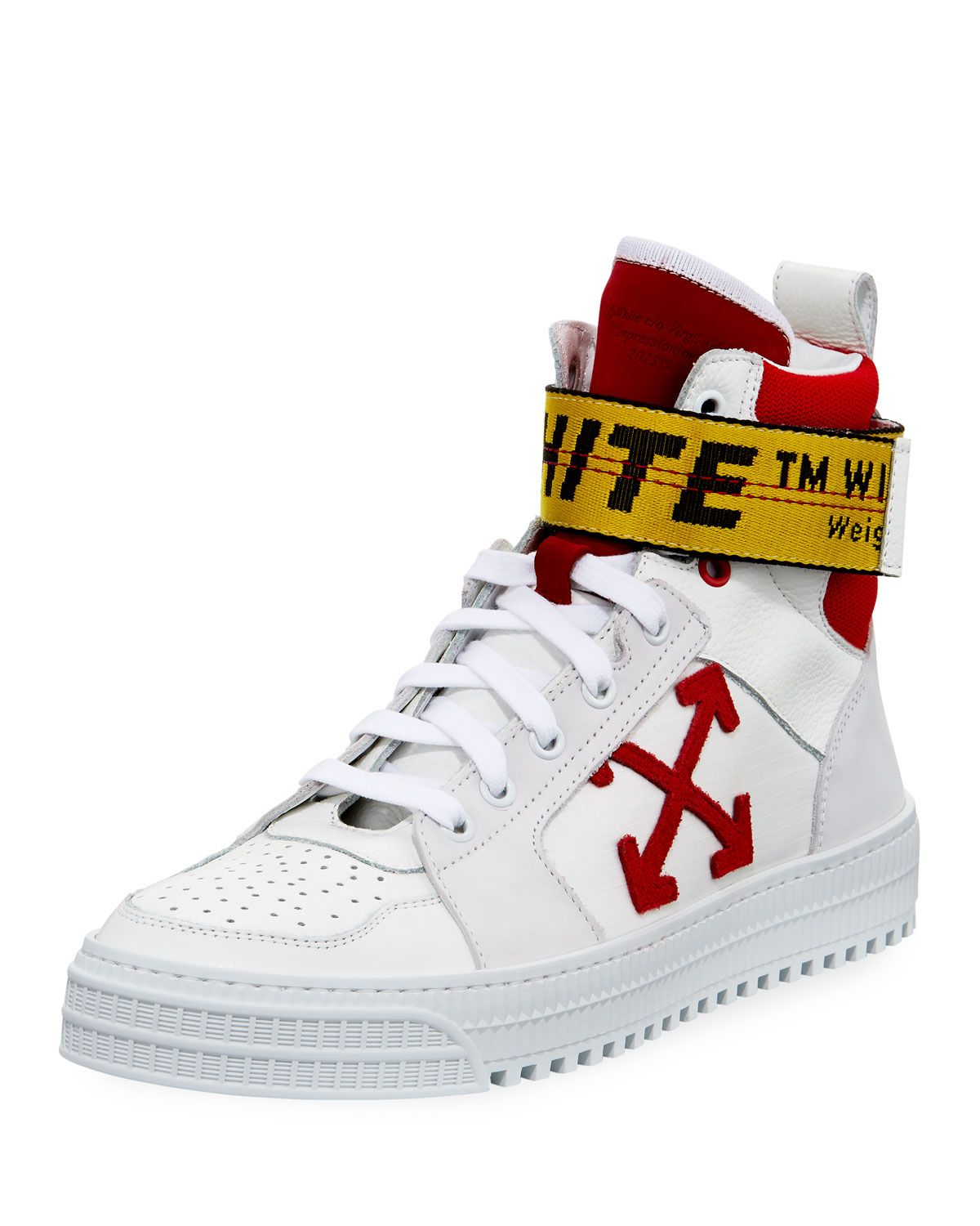 Suede And Ripstop High-top Sneakers