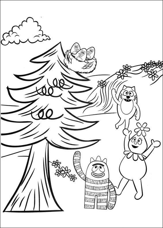Dibujos para Colorear Yo Gabba Gabba 14 | Dibujos para colorear para ...