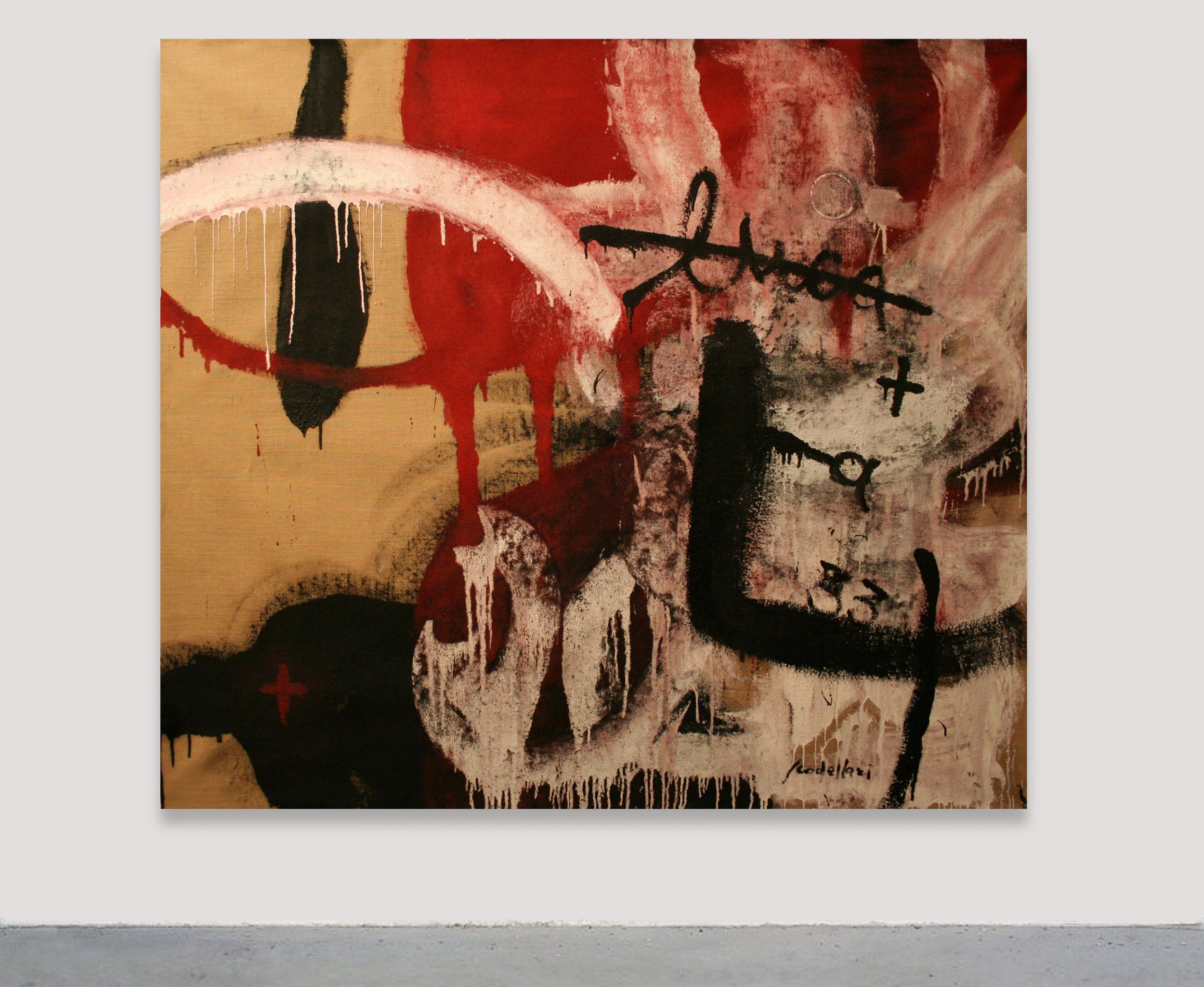 Luca Scodellari - Untitled  Painting, Abstract informal, Industrial paint / Glaze enamel, Canvas, 178x155cm, 2009