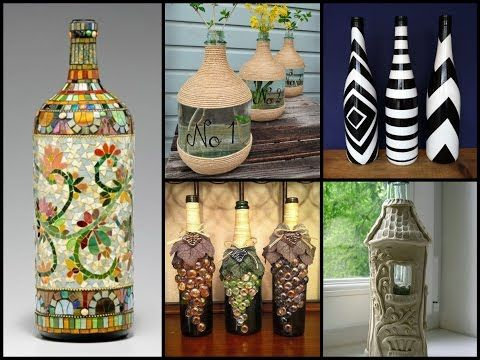 50+ Beautiful Bottle Decorating Ideas U2013 DIY Recycled Room Decor   YouTube