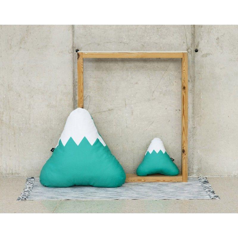 Cojín con forma de montaña grande color Verde jade.