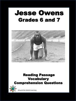 Reading Passage: Jesse Owens | Teachers Worksheets | Reading