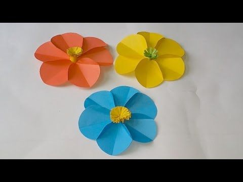 Diy how to make easy beautiful paper flower youtube diy diy how to make easy beautiful paper flower youtube diy and crafts pinterest origami flower and easy mightylinksfo