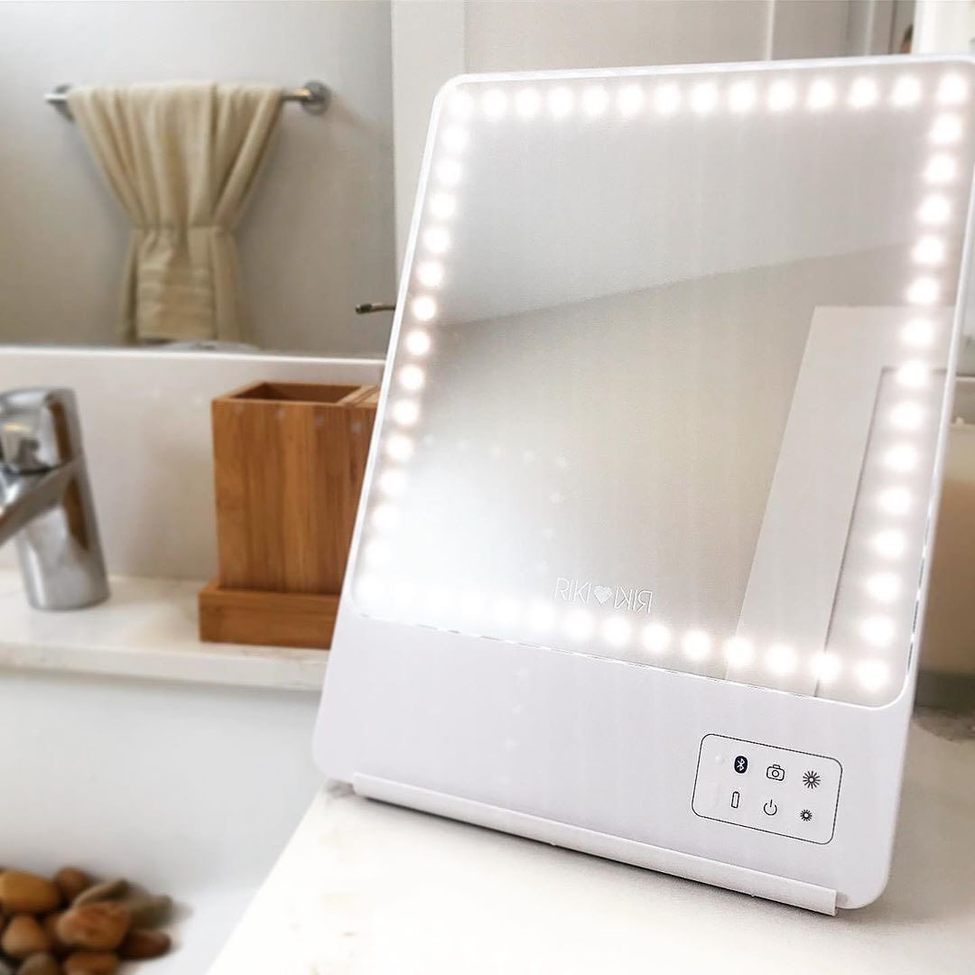 Riki Skinny Makeup Mirror With Lights Travel Makeup Mirror Magnifying Mirror