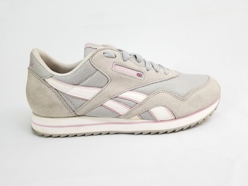 18b0c7bb307fa Reebok Classic LT Gray Pink Nylon Suede Sneaker Shoe Women Size 10 US   fashion