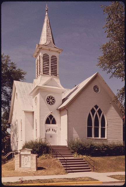 Different Architectural Styles Exterior House Designs: The Church Of Christ, One Of Many Churches Each Of Which