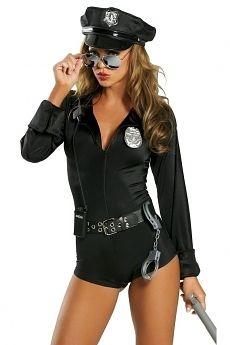 Sexy Polizistin Kostum Police Cop 7 Teilig Costume 할로윈