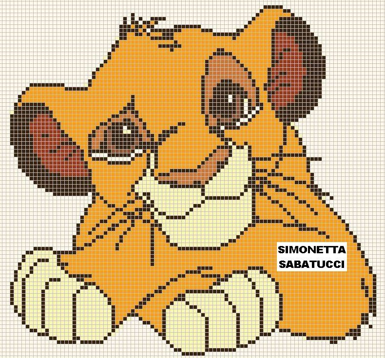 SCHEMA SIMBA 3 CROSS STITCH Pinterest Cross stitch, Stitch and - Dessiner Maison D Gratuit