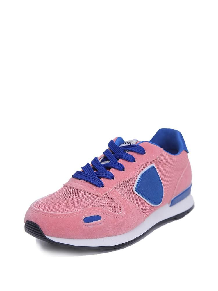 #SheIn - #SheIn Net Panel Lace Up Trainers - AdoreWe.com