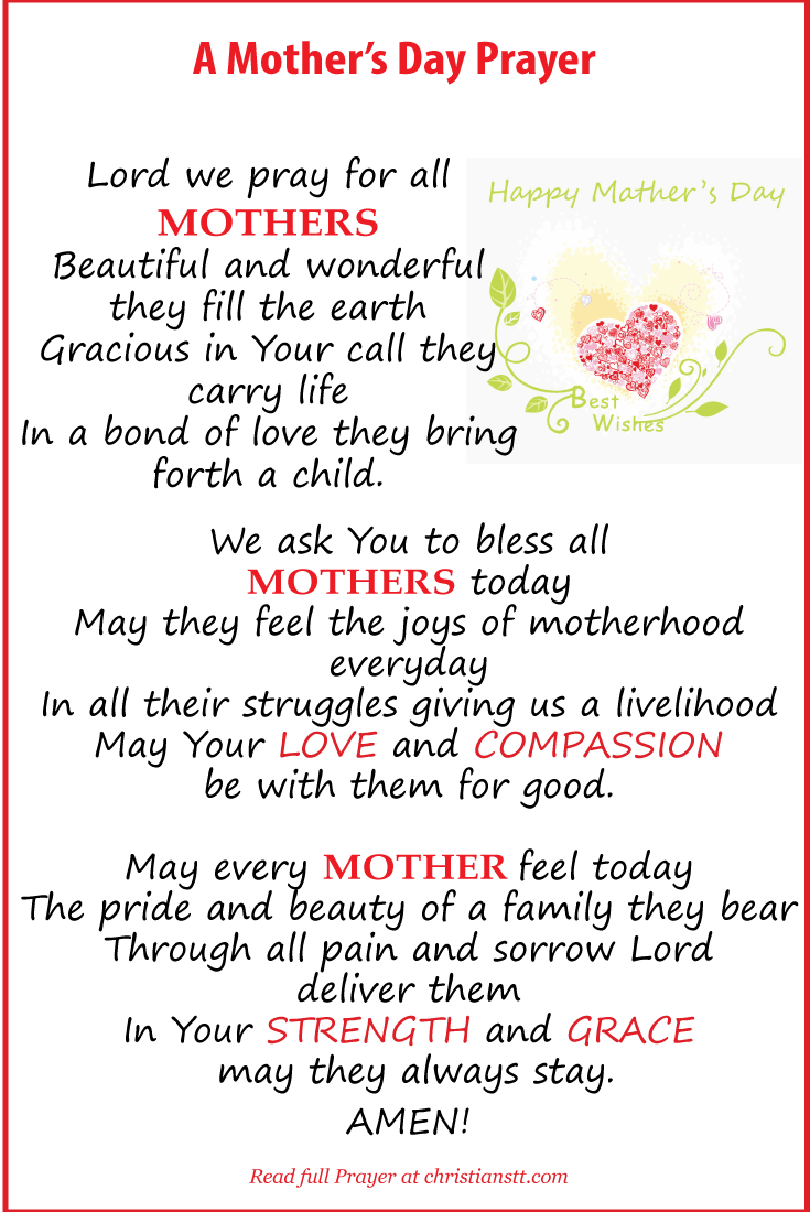 A Prayer For Mothers Mother S Day Prayer Mothers Day Bible Verse Happy Mother Day Quotes