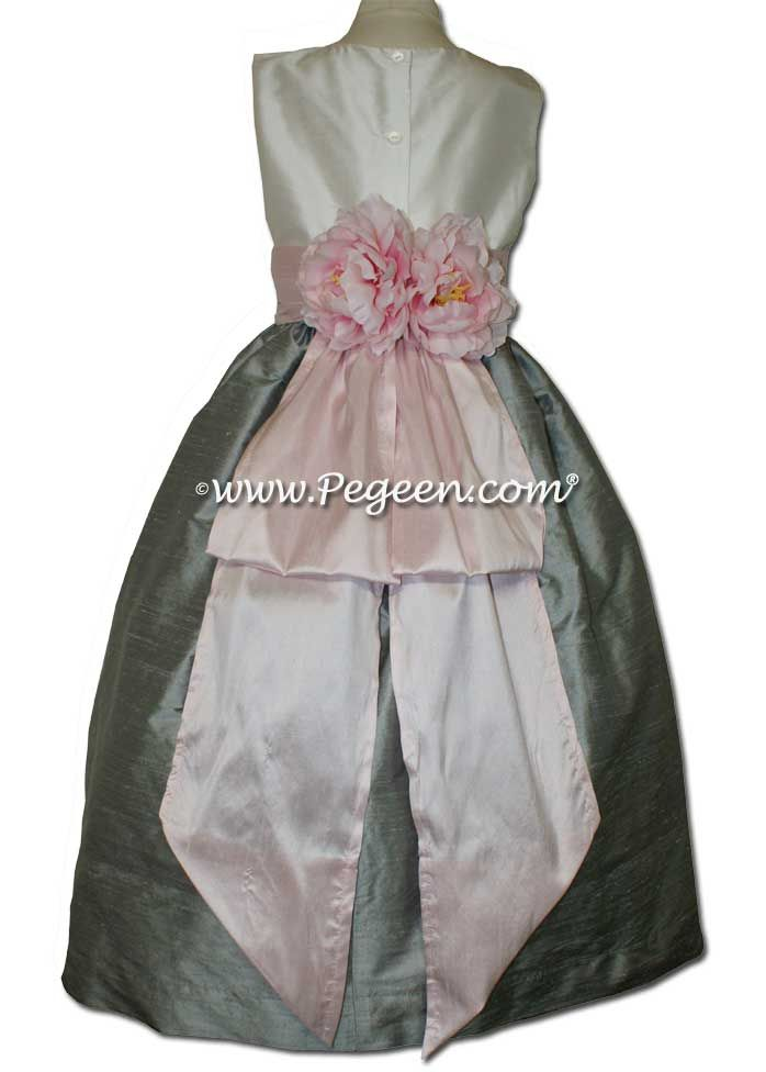 New ivory morning gray and ice pink flower girl dresses with new ivory morning gray and ice pink flower girl dresses with special pink peony flowers mightylinksfo