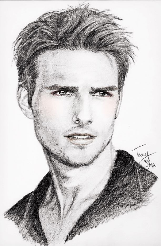 Tom Cruise Art Drawing Disegni Disegno Arte Disegno Ritratti E