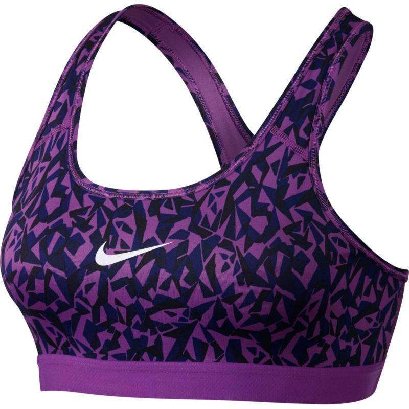 Nike Women's Pro Classic Facet Printed Sports Bra, Size