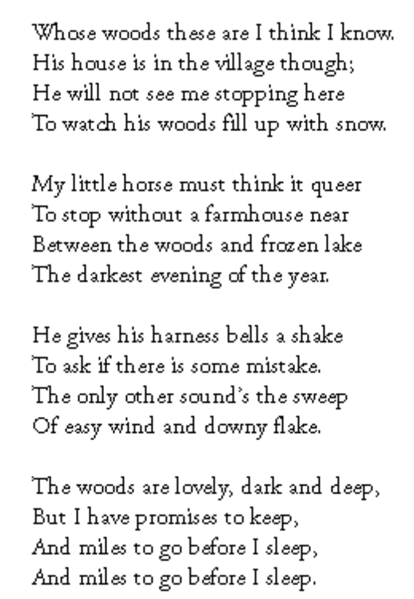 Poem Analysi Robert Frost S Stopping By Wood On A Snowy Evening Paraphrase