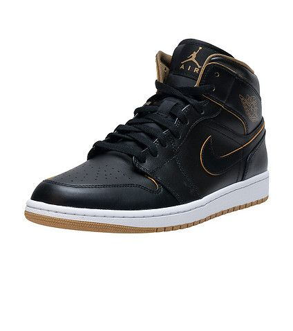 JORDAN MENS AJ 1 MID Black | Sneakers | Pinterest | Celebrity style, Black  and Work outfits