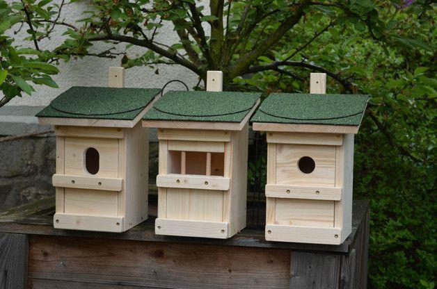 3 nistkasten nistk sten futterhaus f r v gel neu piepsen eichh rnchen nistkasten v gel. Black Bedroom Furniture Sets. Home Design Ideas