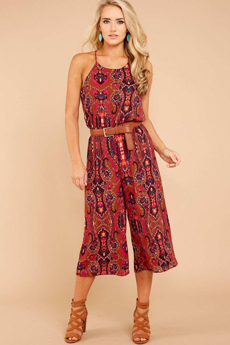 2fa5d71ca07 1 Everly Hold Everything Multi Print Midi Jumpsuit at ...